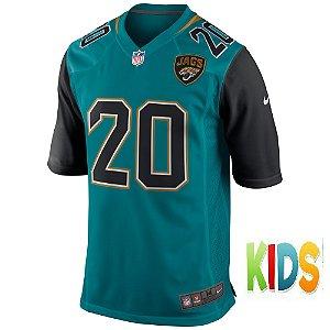 Camisa NFL Infantil  Jacksonville Jaguars Futebol Americano #20 Jalen Ramsey