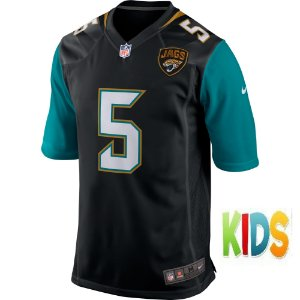 Camisa NFL Infantil  Jacksonville Jaguars Futebol Americano #5 Blake Bortles