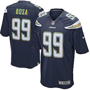 Camisa NFL Los Angeles Chargers Futebol Americano # 99 Bosa