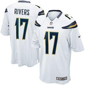 Camisa NFL Los Angeles Chargers Futebol Americano #17 Philip Rivers