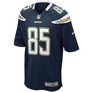 Camisa NFL Los Angeles Chargers Futebol Americano #85 Antonio Gates