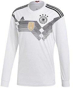 Camisa Seleção Alemanha Home Manga Longa Copa de 2018 - Personalização e Frete Grátis