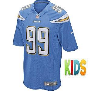 Camisa NFL Infantil Los Angeles Chargers Futebol Americano #99 Joey Bosa