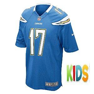 Camisa NFL Infantil Los Angeles Chargers Futebol Americano #17 Philip Rivers