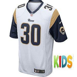 Camisa NFL Infantil Los Angeles Rams Futebol Americano #30 Todd Gurley