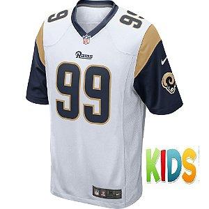 Camisa NFL Infantil Los Angeles Rams Futebol Americano #99 Aaron Donald