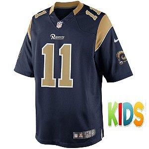 Camisa NFL Infantil Los Angeles Rams Futebol Americano #11 Tavon Austin