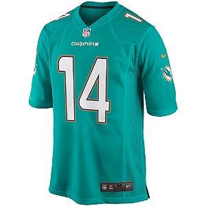 Camisa NFL Miami Dolphins futebol Americano #14 Jarvis Landry
