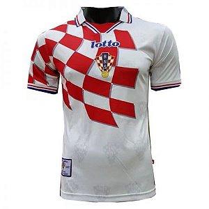 Camisa Seleção Croácia Home Copa do Mundo 1998 RETRO - Personalização e Frete Grátis