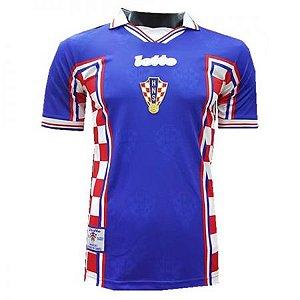 Camisa Seleção Croácia Away Copa do Mundo 1998 RETRO - Personalização e Frete Grátis