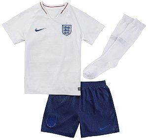 Kit Infantil Seleção Inglaterra Home Copa do Mundo 2018 - personalização e frete grátis