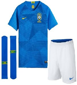 Kit Infantil Seleção Brasil Away Copa do Mundo 2018