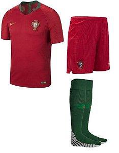 Kit Adulto Seleção Portugal Home Copa do Mundo 2018 - Super Lançamento - personalizaçao e frete gratis