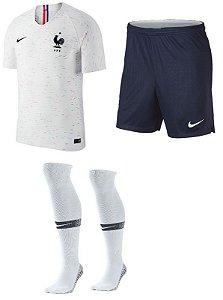Kit Adulto Seleção França Away Copa do Mundo 2018 - personalizaçao e frete gratis