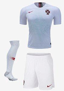 Kit Adulto Seleção Portugal Away Copa do Mundo 2018 - Super Lançamento - personalizaçao e frete gratis