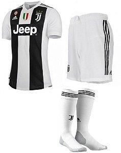 Kit Adulto Juventus Home 2018/2019 Personalização e Frete Grátis