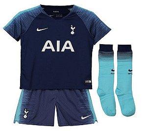 Kit Infantil Tottenham Away 2019 C/ Meião - Personalização e Frete Grátis