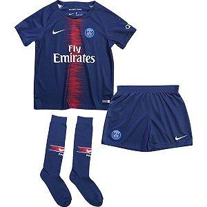 Kit Infantil Paris Saint Germain Psg C/ Meias Home - Personalização e Frete Grátis