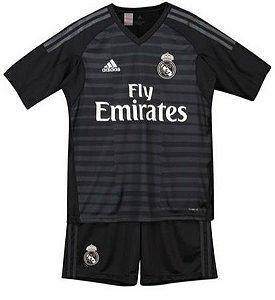Kit Infantil Real Madrid Goleiro Personalização e Frete Grátis