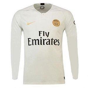 Camisa Paris Saint Germain PSG Manga Longa Away 18/19 - Personalização e Frete Grátis
