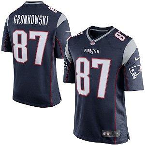 Camisa Nfl Futebol Americano New England Patriots #87 Gronkowski