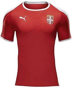 Camisa Seleção Servia Home Copa do Mundo 2018 - Personalização e Frete Grátis