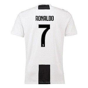 Camisa Juventus Home 2018/2019 Cristiano Ronaldo CR7 Frete Grátis