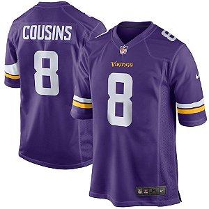 Camisa Minnesota Vikings Nfl Futebol Americano #8 Cousins