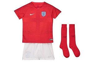 Kit Infantil Inglaterra Home Copa do Mundo 2018 - Personalização e Frete Grátis