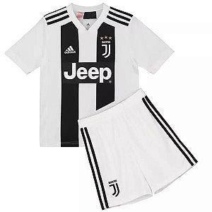 Kit Infantil Juventus Home 2018/2019 Personalização e Frete Grátis