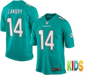 Camisa Infantil NFL Miami Dolphins futebol Americano #14 Jarvis Landry