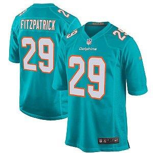 Camisa NFL Miami Dolphins futebol Americano #29 Minkah Fitzpatrick