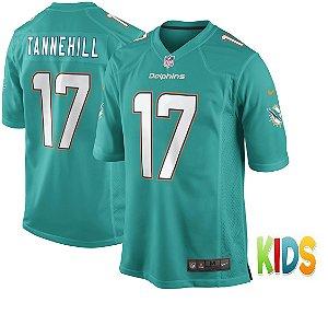 Camisa Infantil NFL Miami Dolphins futebol Americano #17 Ryan Tannehill