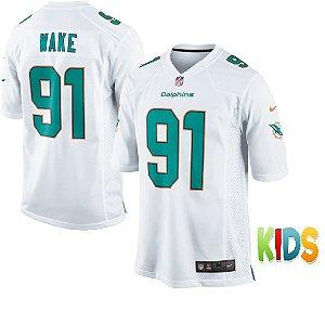 Camisa Infantil NFL Miami Dolphins futebol Americano #91 Frank Gore
