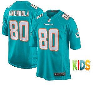 Camisa Infantil NFL Miami Dolphins futebol Americano #80 Danny Amendola