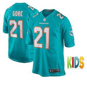 Camisa Infantil NFL Miami Dolphins futebol Americano #21 Frank Gore