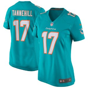 Camisa Feminina NFL Miami Dolphins futebol Americano #17 Ryan Tannehill