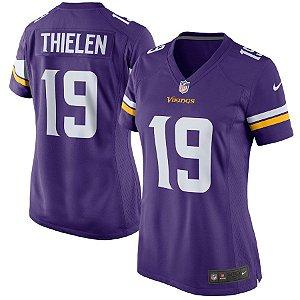 Camisa Feminina Minnesota Vikings Nfl Futebol Americano #19 Thielen