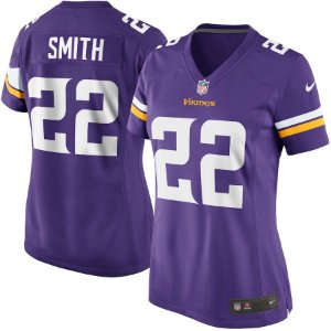 Camisa Feminina Minnesota Vikings Nfl Futebol Americano #22 Smith