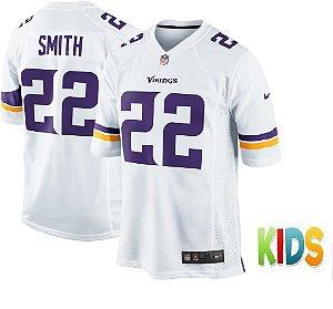 Camisa Infantil Minnesota Vikings Nfl Futebol Americano #22 Smith