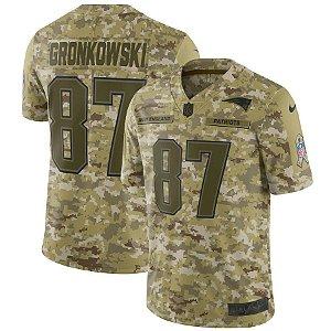 Camisa Nfl Futebol Americano New England Patriots Salute To Service #87 Gronkowski