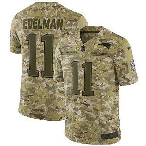 Camisa Nfl Futebol Americano New England Patriots Salute To Service #11 Eldeman