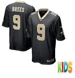 Camisa Infantil Nfl Futebol Americano New Orleans Saints #91 Brees