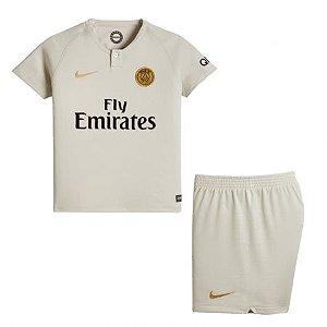 Kit Infantil Paris Saint Germain PSG Away 2018/2019 - Personalização e Frete Grátis