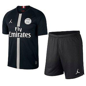 Kit Infantil Paris Saint Germain PSG Jordan Third 2018/2019 - Personalização e Frete Grátis