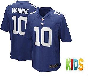 Camisa Infantil Nfl Futebol Americano New York Giants #10 Manning