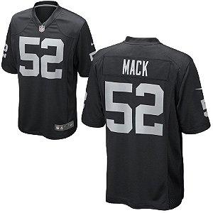 Camisa Nfl Oakland Raiders Futebol Americano #52 Mack
