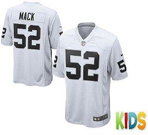 Camisa Infantil Nfl Oakland Raiders Futebol Americano #52 Mack