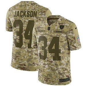 Camisa Nfl Oakland Raiders Futebol Americano #34 Bo Jackson