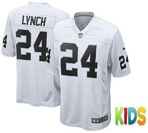 Camisa Nfl Infantil Oakland Raiders Futebol Americano #24 Lynch
